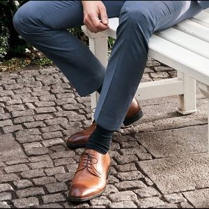 Joseph Abboud Tan Plain Toe Oxfords  Tan Plain Toe Oxfords